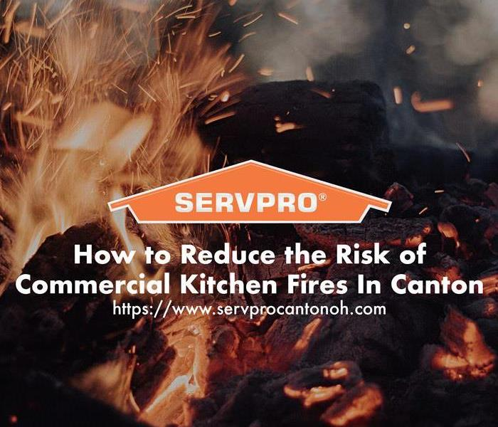Orange SERVPRO  house logo on image with fire flames.