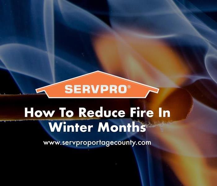 Orange SERVPRO  house logo on image with fire flames